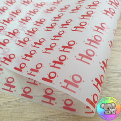 Ho Ho Ho Christmas Packaging Paper