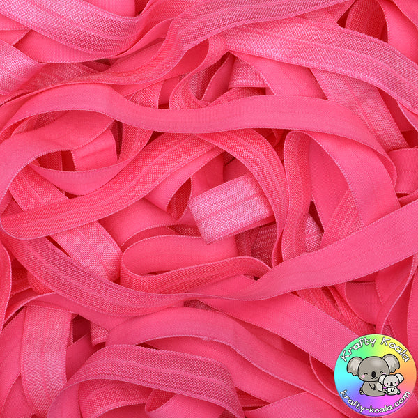 Hot Pink Fold Over Elastic