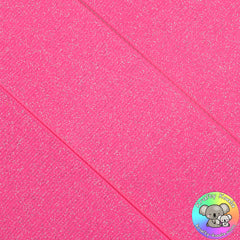Hot Pink Glitter Grosgrain Ribbon