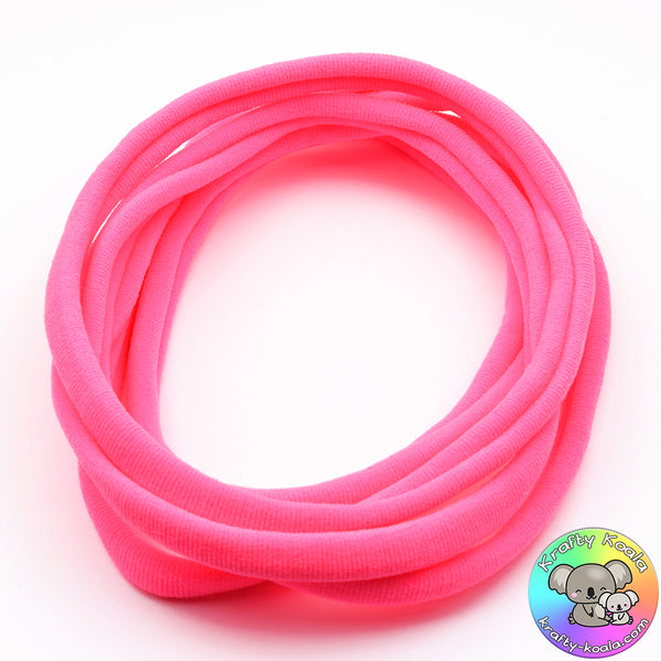 Hot Pink Nylon Headbands