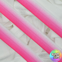 Hot Pink Ombre Fold Over Elastic