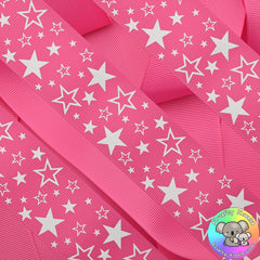 Hot Pink Stars Ribbon