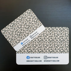 Leopard Print Display Cards