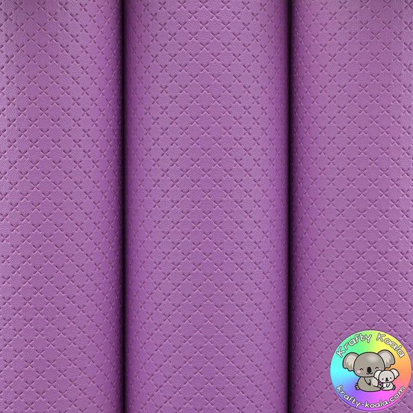 Lavender Quilted Leatherette