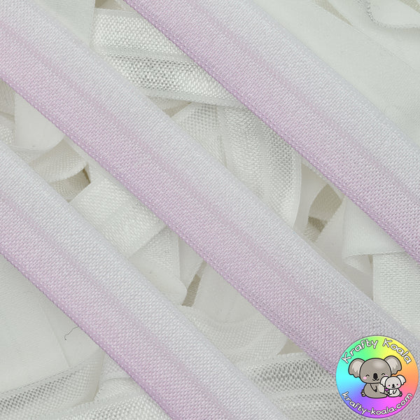 Lilac Ombre Fold Over Elastic