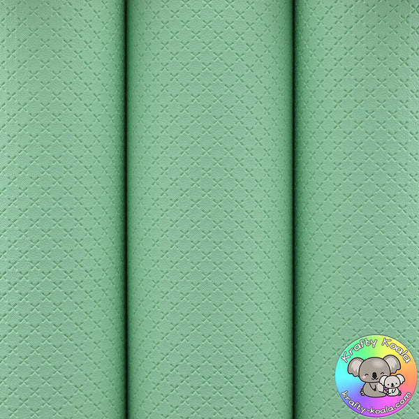Mint Green Quilted Leatherette