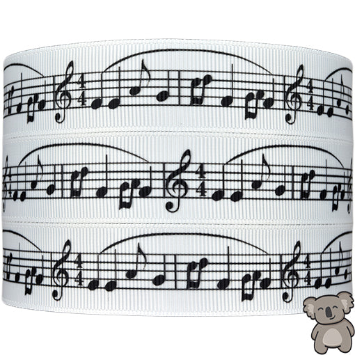 Musical Notes - Patterned Grosgrain Ribbon