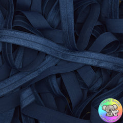 Navy Blue Fold Over Elastic