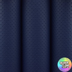 Navy Blue Quilted Leatherette