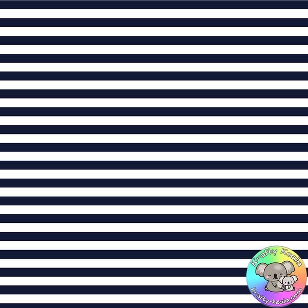 Navy Blue Stripes Fabric