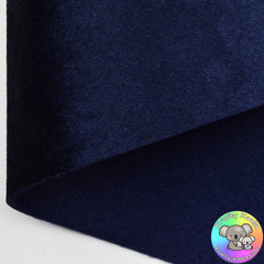 Navy Blue Crushed Velvet Fabric