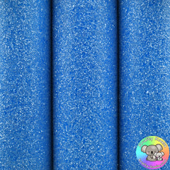 Neon Blue Ultra Chunky Glitter Fabric