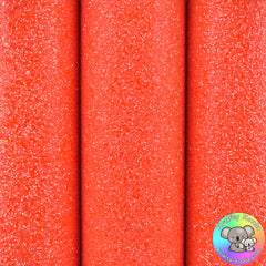 Neon Orange Ultra Chunky Glitter Fabric