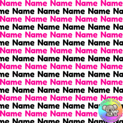 Neon Pink & Black Custom Name Fabric
