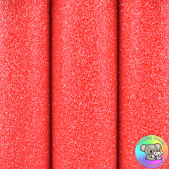 Neon Red Ultra Chunky Glitter Fabric