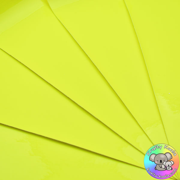 Neon Yellow Smooth Leatherette