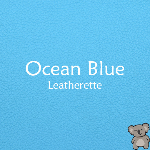 Ocean Blue Leatherette