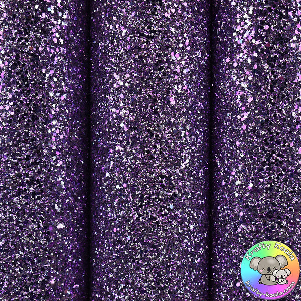 Parma Violet Glitter Fabric