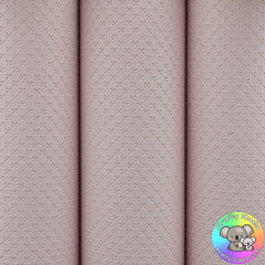 Pastel Pink Quilted Leatherette