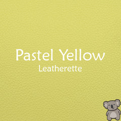 Pastel Yellow Leatherette