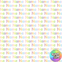 Pastel Custom Name Fabric