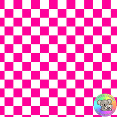Pink Checkerboard Fabric