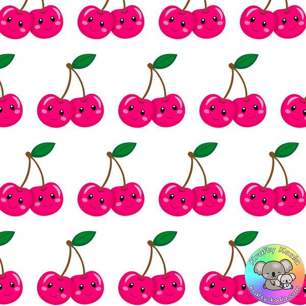 Pink Cherries Fabric