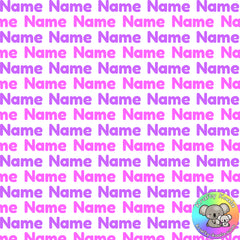 Pink & Purple Custom Name Fabric