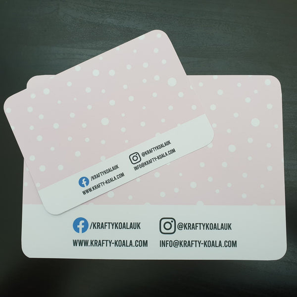 Pink Polkadot Display Cards
