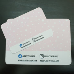 Baby Pink Polkadot Display Cards