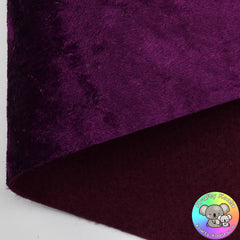 Plum Crushed Velvet Fabric