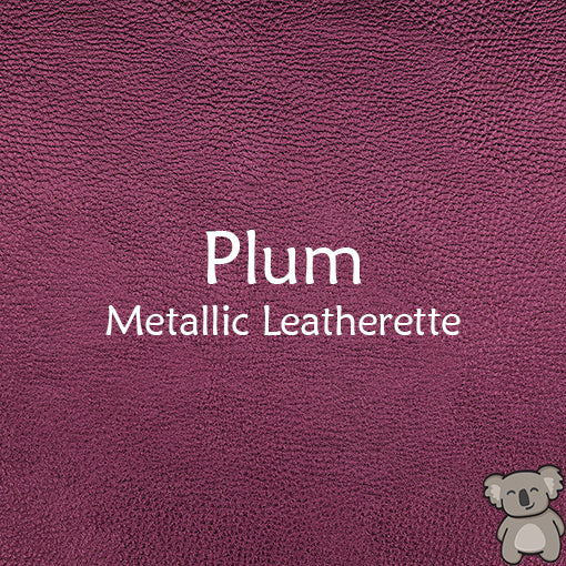 Plum Metallic Leatherette