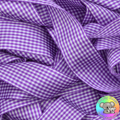 Purple Gingham Plaid Ribbon