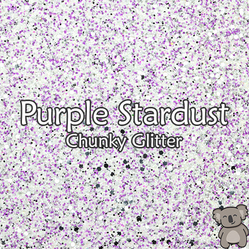 Purple Stardust Chunky Glitter Fabric