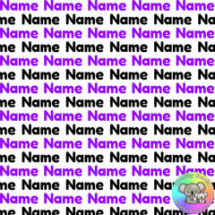 Purple & Black Custom Name Fabric