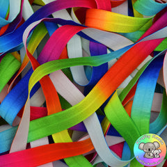 Rainbow Fold Over Elastic