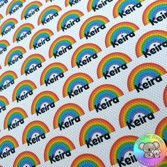 Rainbows Custom Name Fabric