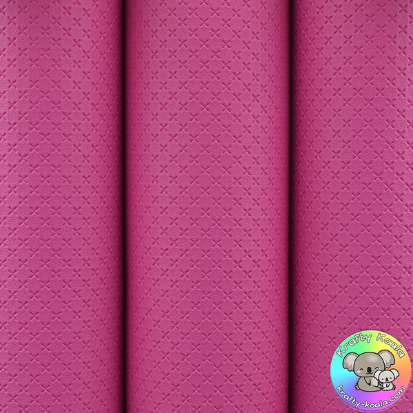 Raspberry Quilted Leatherette