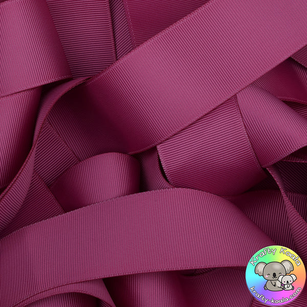 Raspberry Rose Grosgrain Ribbon
