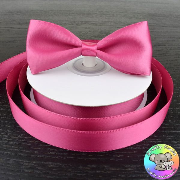 Raspberry Rose Satin Ribbon