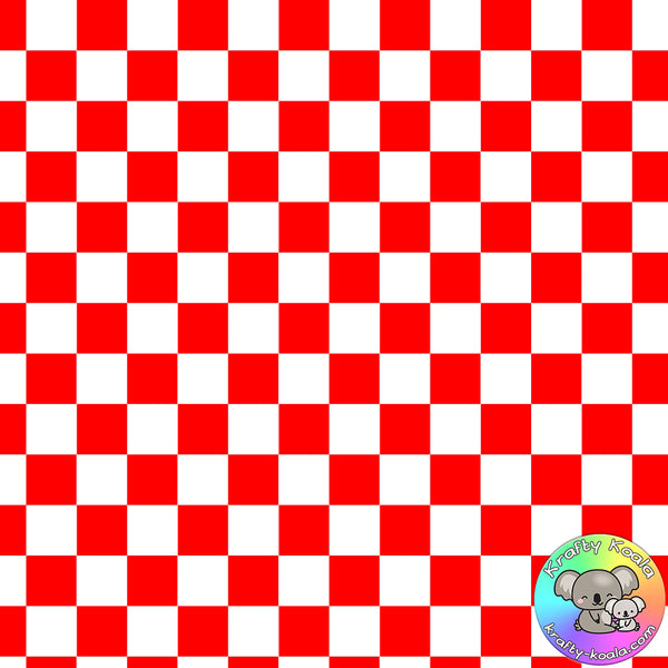 Red Checkerboard Fabric