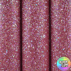 Red Gemstones Chunky Glitter Fabric
