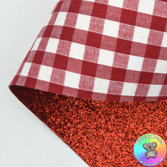 Red Gingham Double Sided Fabric