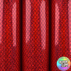 Red Mermaid Smooth Leatherette Fabric