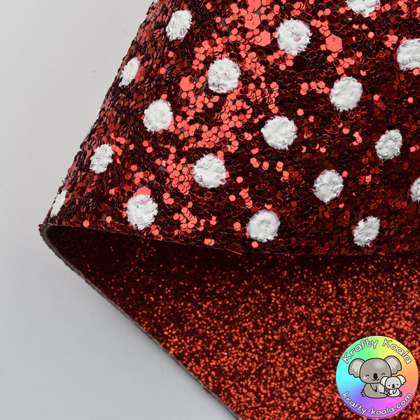 Red Polka Dot Double Sided Fabric