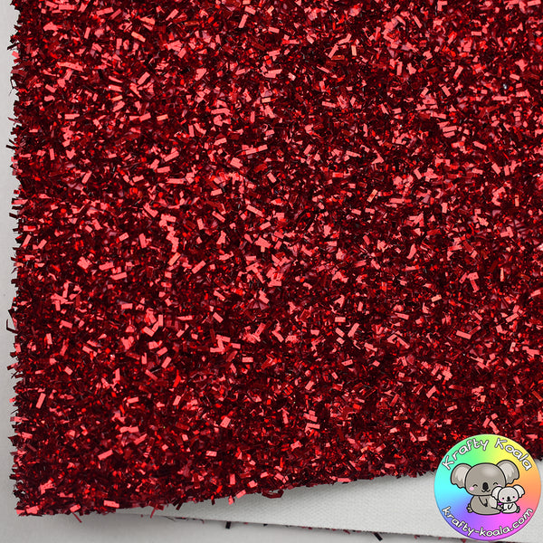 Red Tinsel Fabric