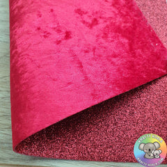 Red Crushed Velvet Double Sided Fabric