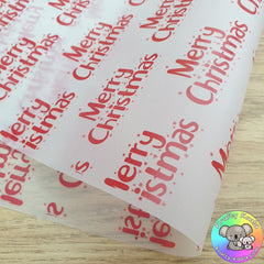 Red Merry Christmas Packaging Paper