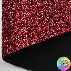 Red Curly Tinsel Fabric