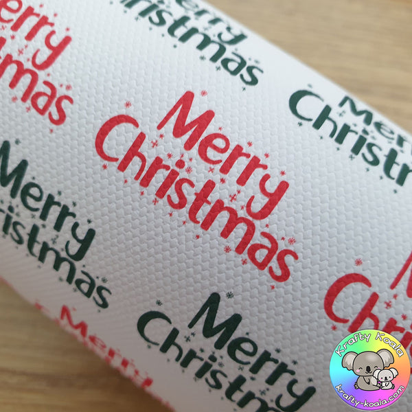 Red & Green Merry Christmas Fabric